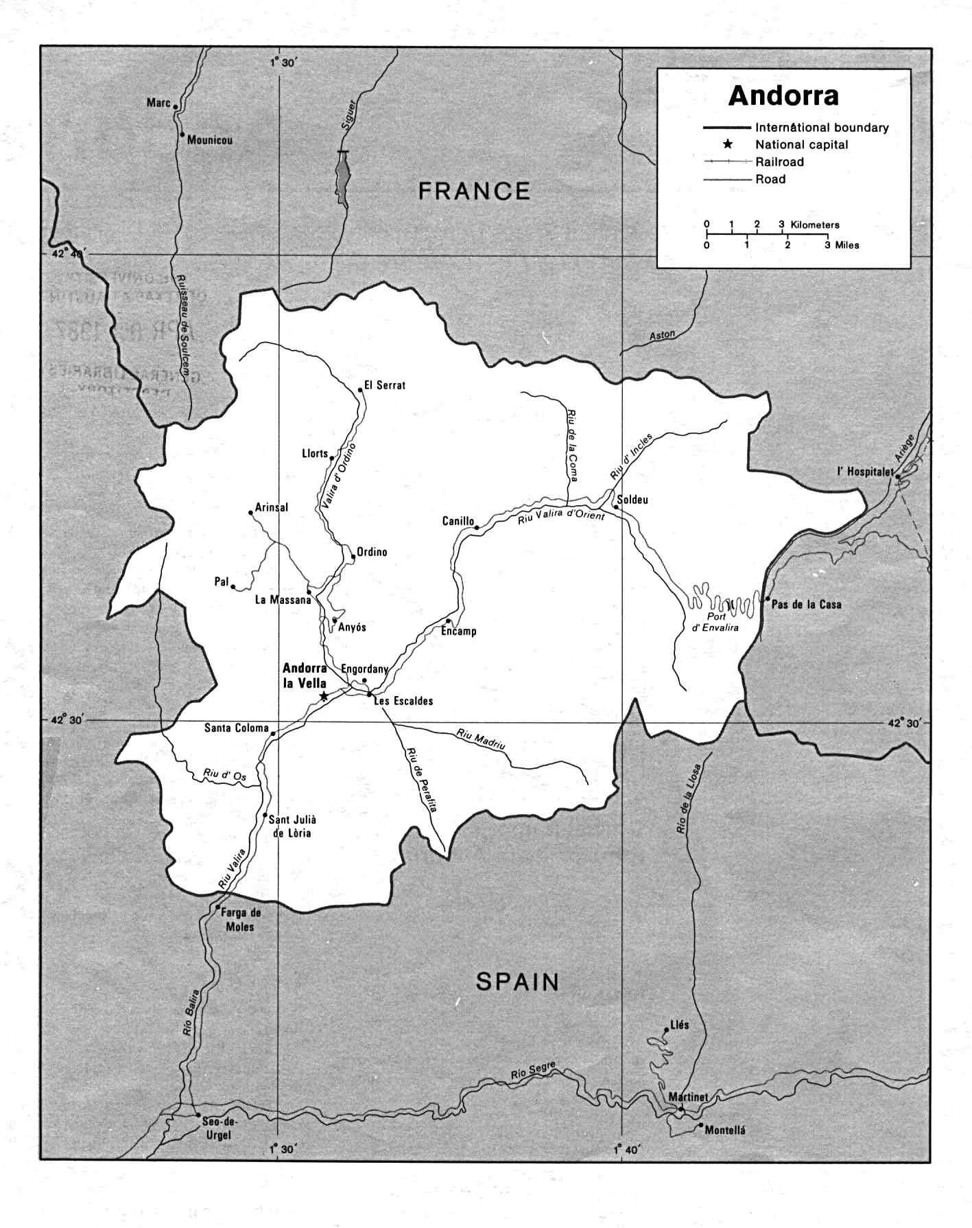 安道尔地图 欧洲地图 europe maps 世界地图 美景旅游